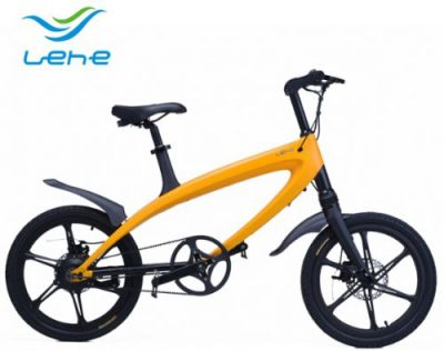 Bicicleta electrica Lehe S1 (Galben)