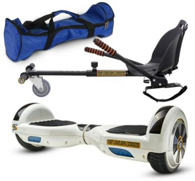 Pachet Scooter electric (hoverboard) MonkeyBoard Original MK-24 Gowhite Line