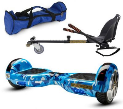 Pachet Scooter electric (hoverboard) MonkeyBoard Original MK-91 Bluebird Roller