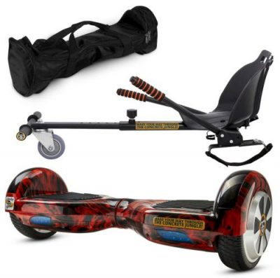 Pachet Scooter electric (hoverboard) MonkeyBoard Original MK-93 RED WAVER