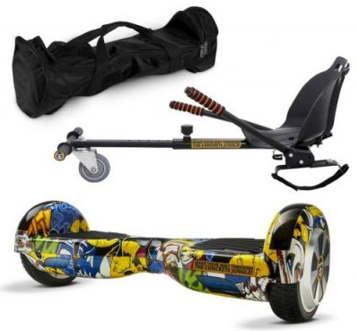 Pachet Scooter electric (hoverboard) MonkeyBoard Original MK-96 Grafitti Cool