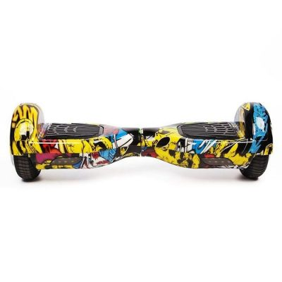 Hoverboard Koowheel S36 Yellow Graffiti 6 5 inch
